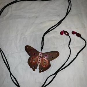 Tarina Tarantino Wood Butterfly 🦋 Necklace